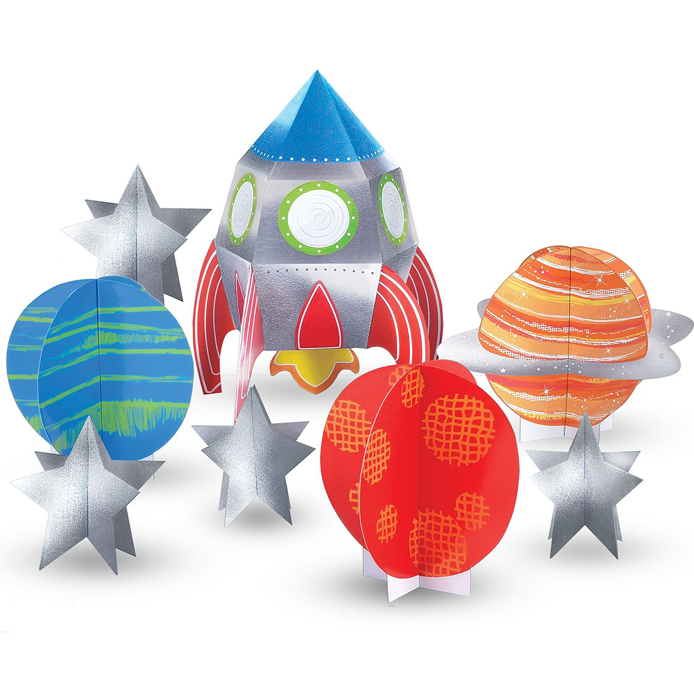 Blast Off 3rd Birthday Party Kit for 16 Guests Image #10