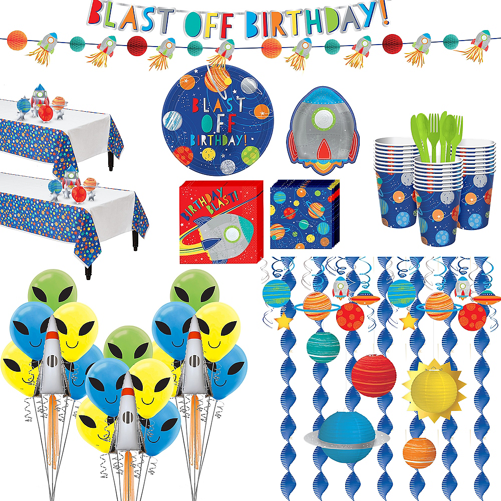 Super Blast Off Birthday Party Kit for 32 Guests Image #1