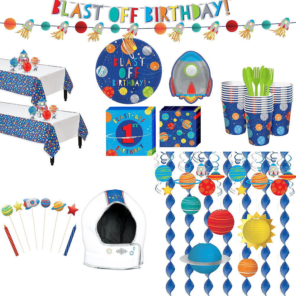 Ultimate Blast Off Birthday Party Kit for 32 Guests Image #1