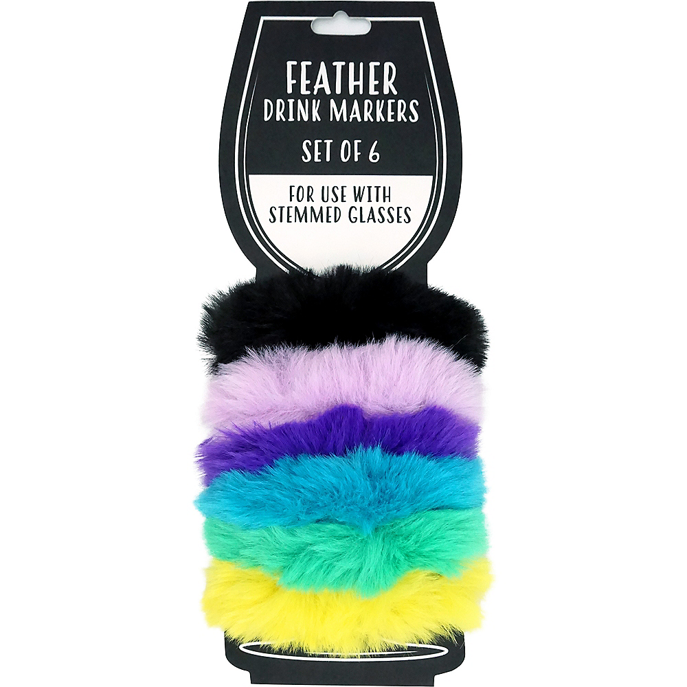 Feather Boa Glass Markers 6ct Image #1