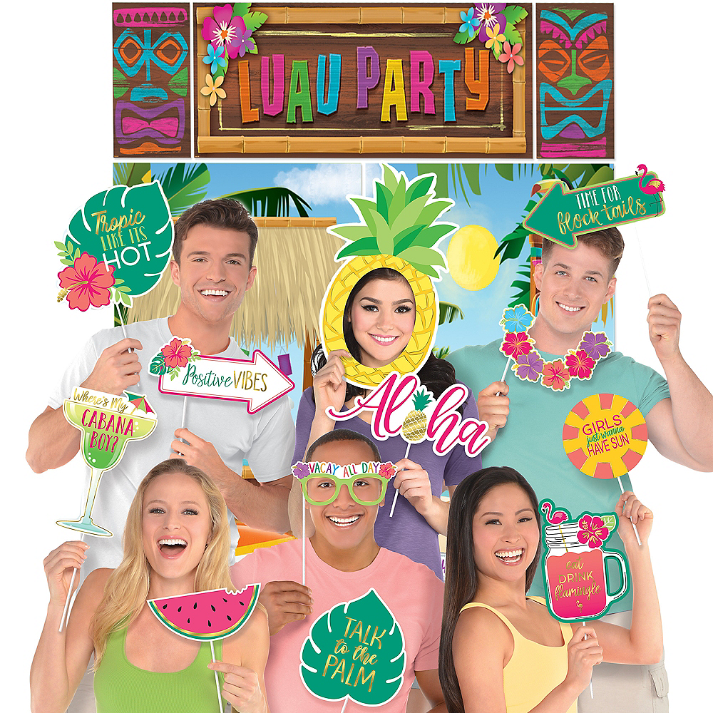 Luau Party Photo Booth Kit Image #1