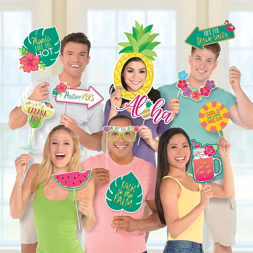 Luau Party Photo Booth Kit Image #3