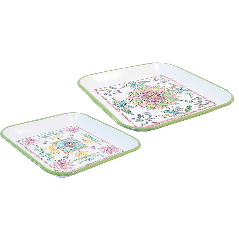 Blooming Blossoms Tray Set 2pc Image #1
