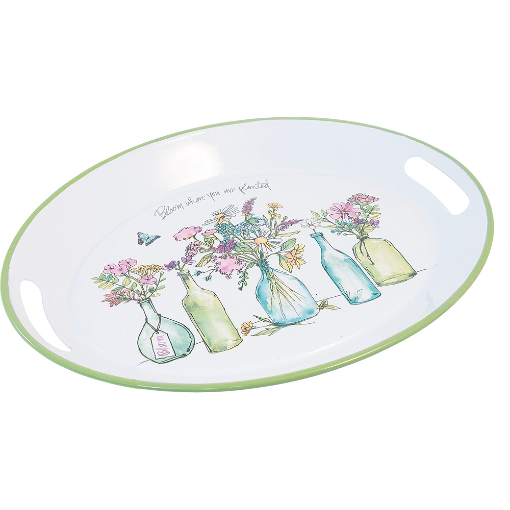 Blooming Blossoms Oval Platter Image #1