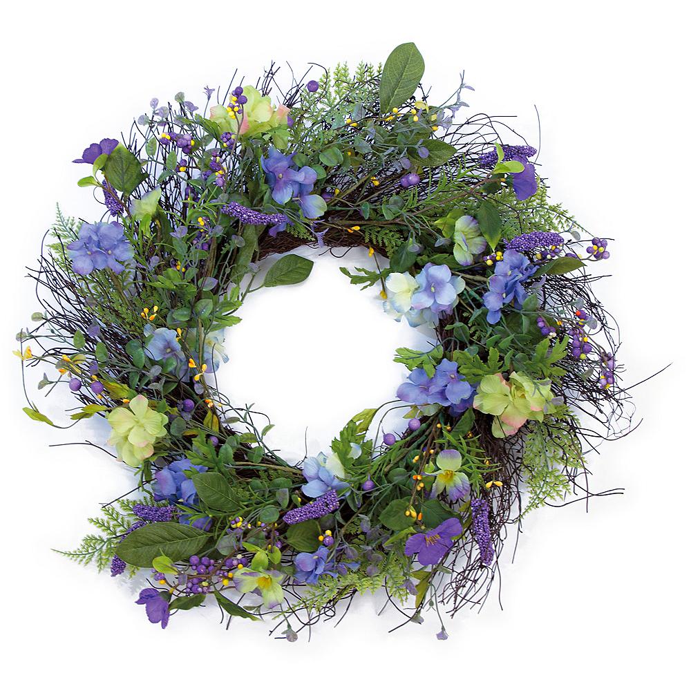 Purple Flower Wreath Image #1