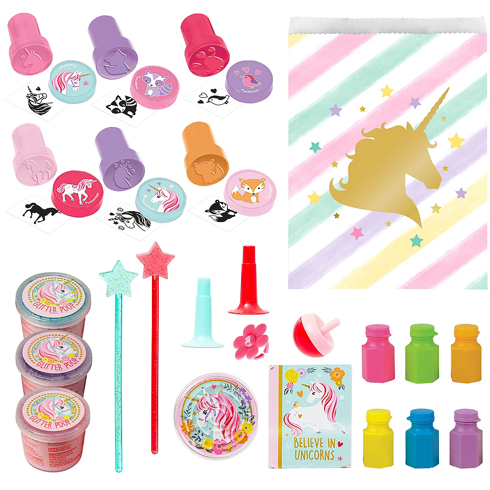 Sparkling Unicorn Basic Favor Kit for 8 Guests Image #1
