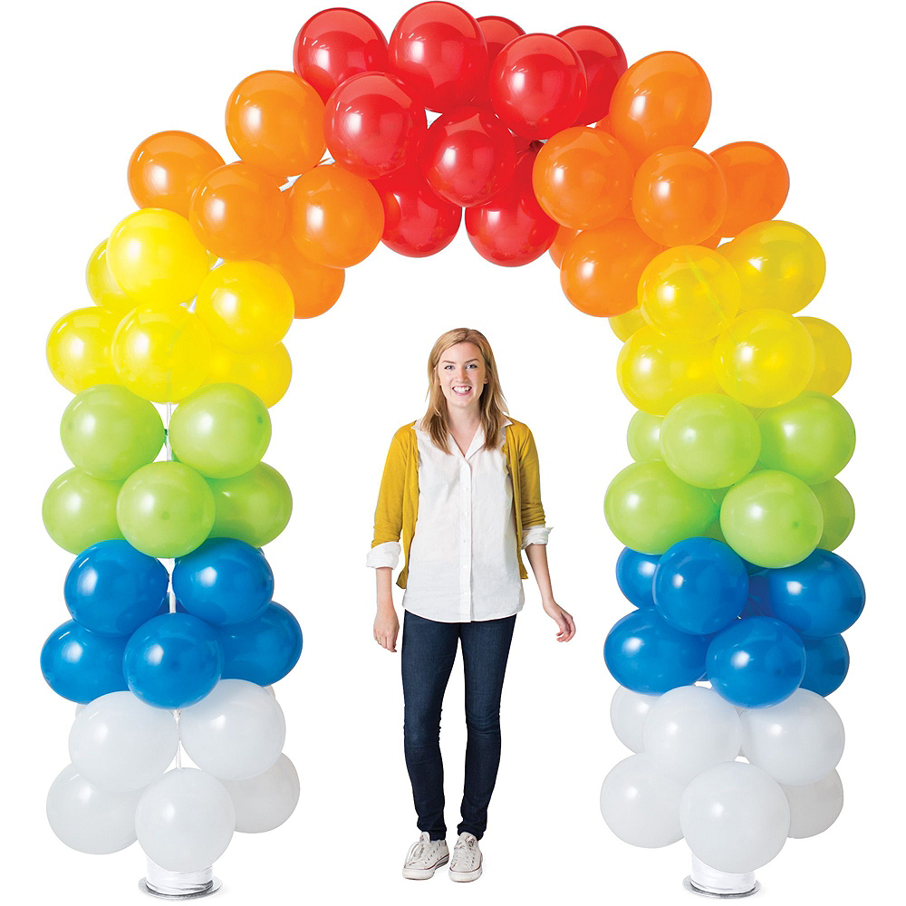 Air-Filled Black, Gold & Silver New Year's Eve Balloon Arch Kit Image #3