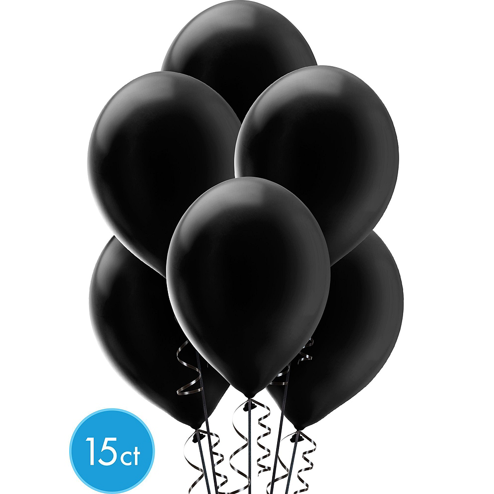 Air-Filled Black, Gold & Silver New Year's Eve Balloon Arch Kit Image #4
