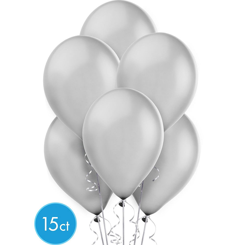 Air-Filled Black, Gold & Silver New Year's Eve Balloon Arch Kit Image #6
