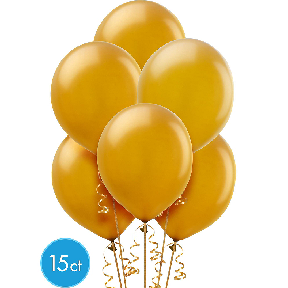 Air-Filled Black, Gold & Silver Balloon Arch Kit Image #4