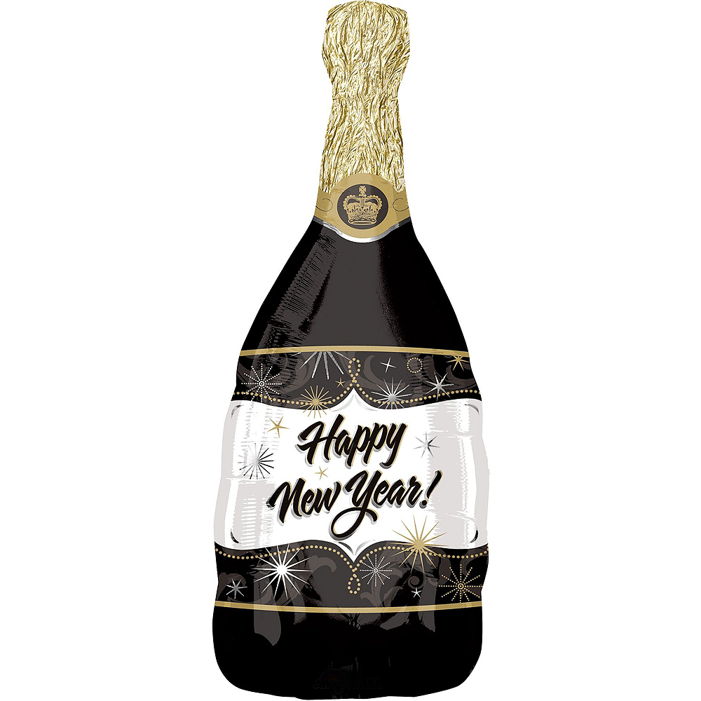 Champagne Happy New Year Balloon Kit with Balloon Weight Clip Image #2