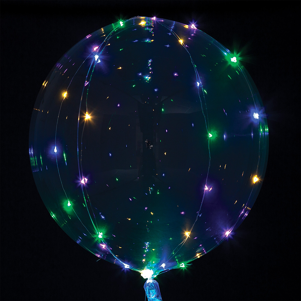 Multicolor Light-Up Clear Balloon - Crystal Clearz Image #2
