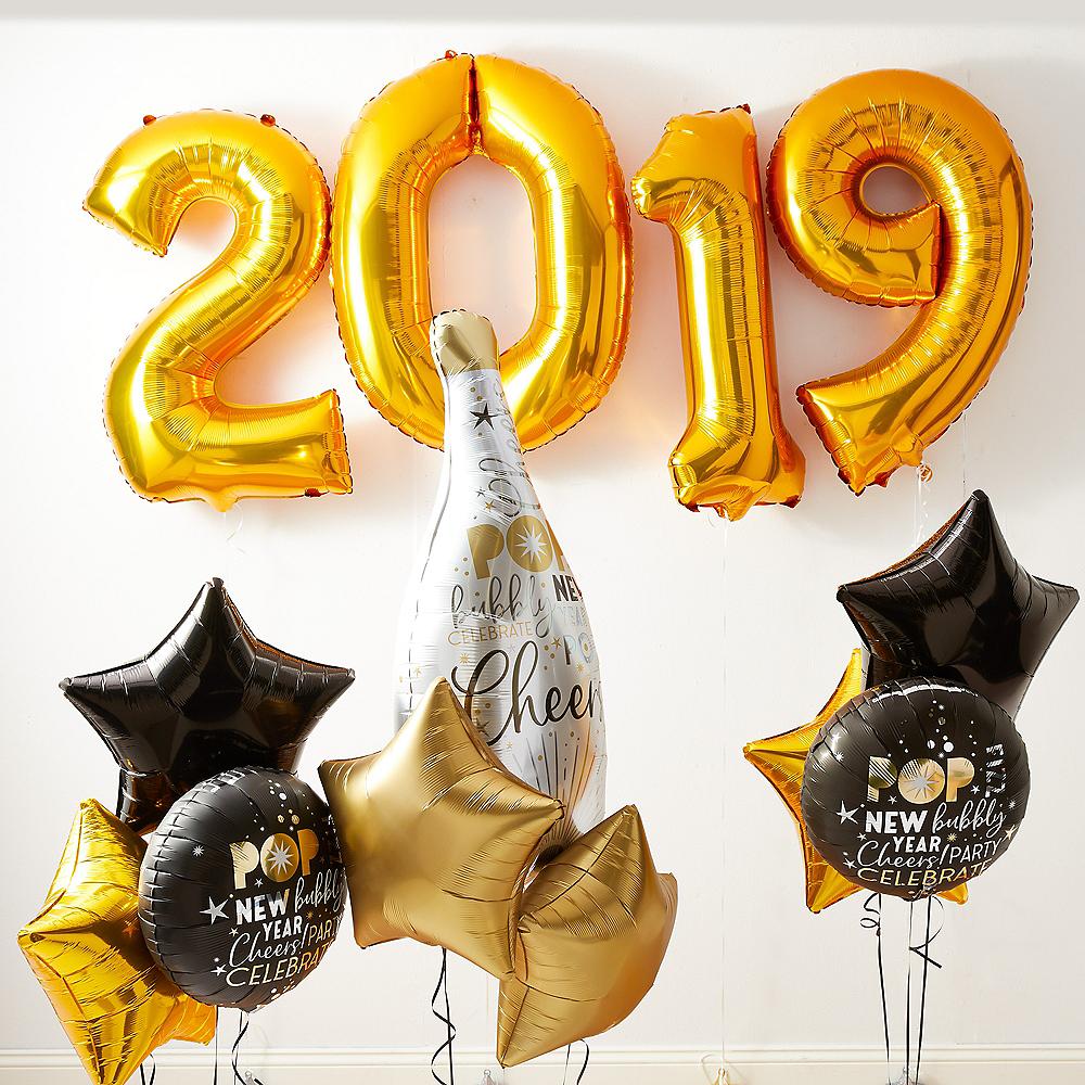 Gold 2019 Champagne Cheer Balloon Kit Image #1
