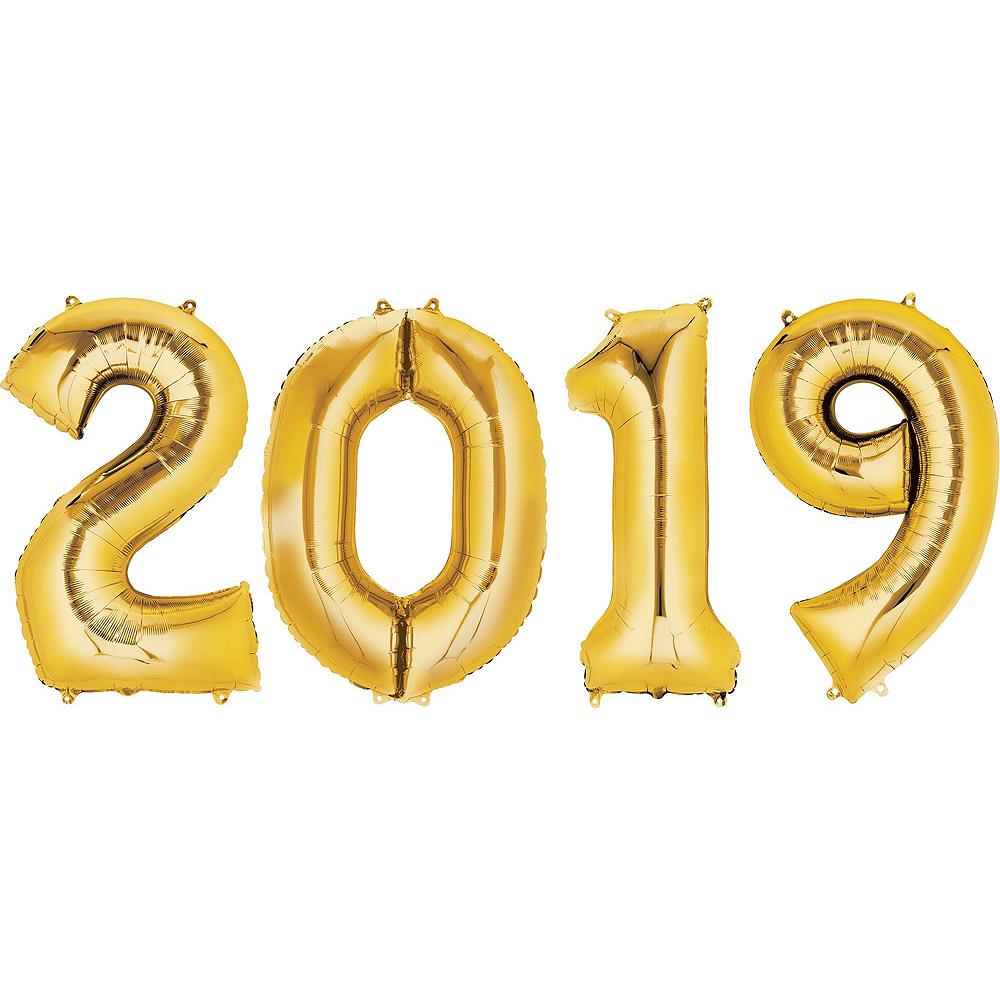 Gold 2019 Champagne Cheer Balloon Kit Image #3