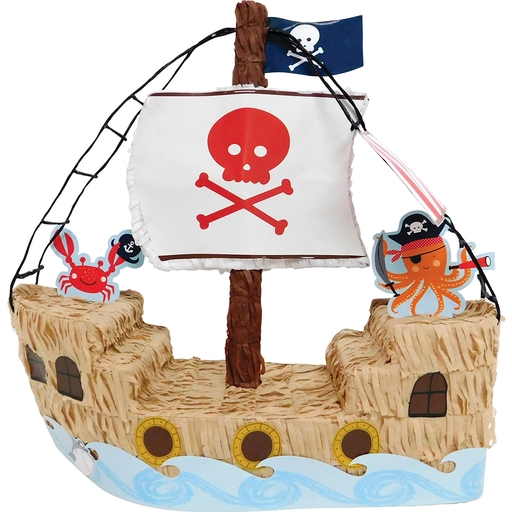 Pirate Shark Pirate Ship Pinata Image #1