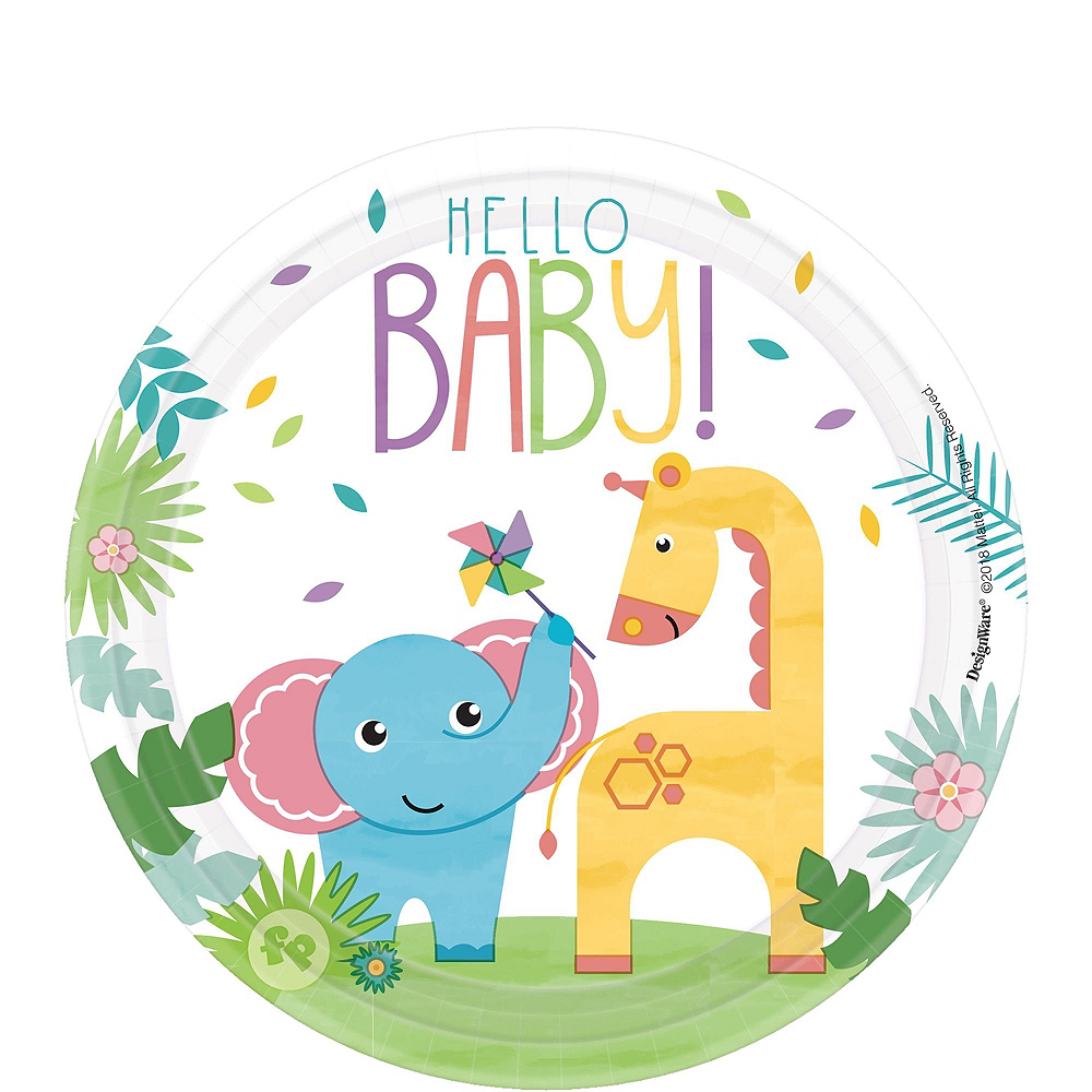 Fisher-Price Hello Baby Tableware Kit for 16 Guests Image #2