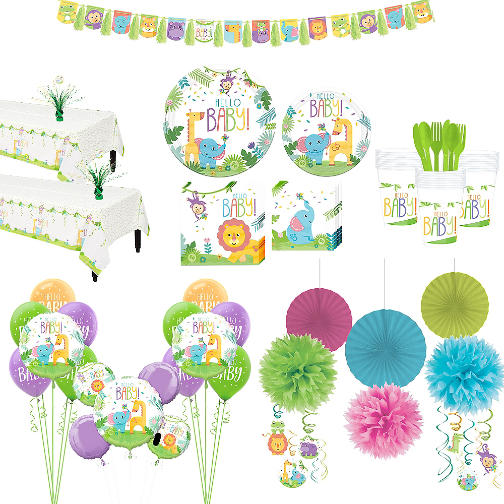Super Fisher-Price Hello Baby Party Kit for 32 Guests Image #1