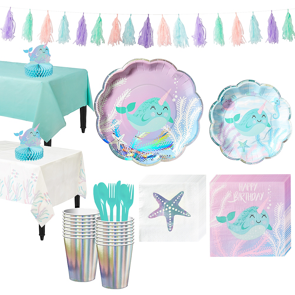 Narwhal Tableware Party Kit for 16 Guests Image #1