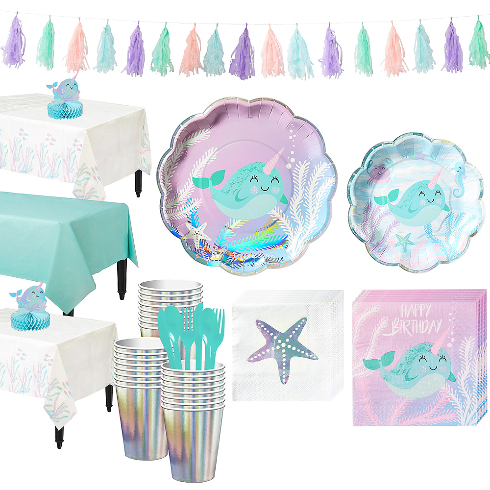 Narwhal Tableware Party Kit for 24 Guests Image #1