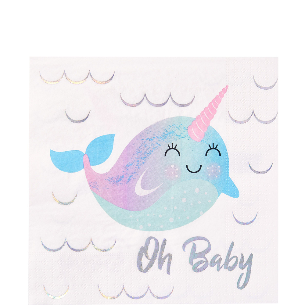 Baby Narwhal Tableware Party Kit for 16 Guests Image #5