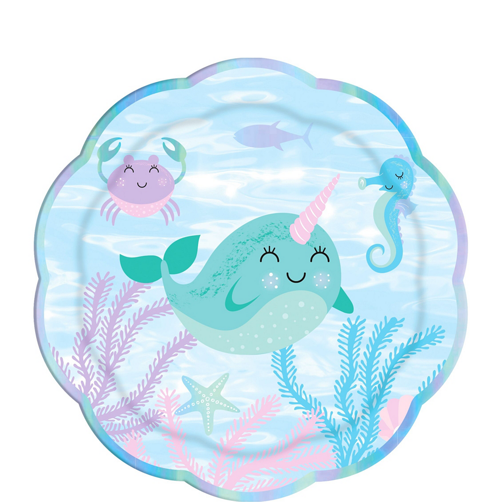 Baby Narwhal Tableware Party Kit for 32 Guests Image #2
