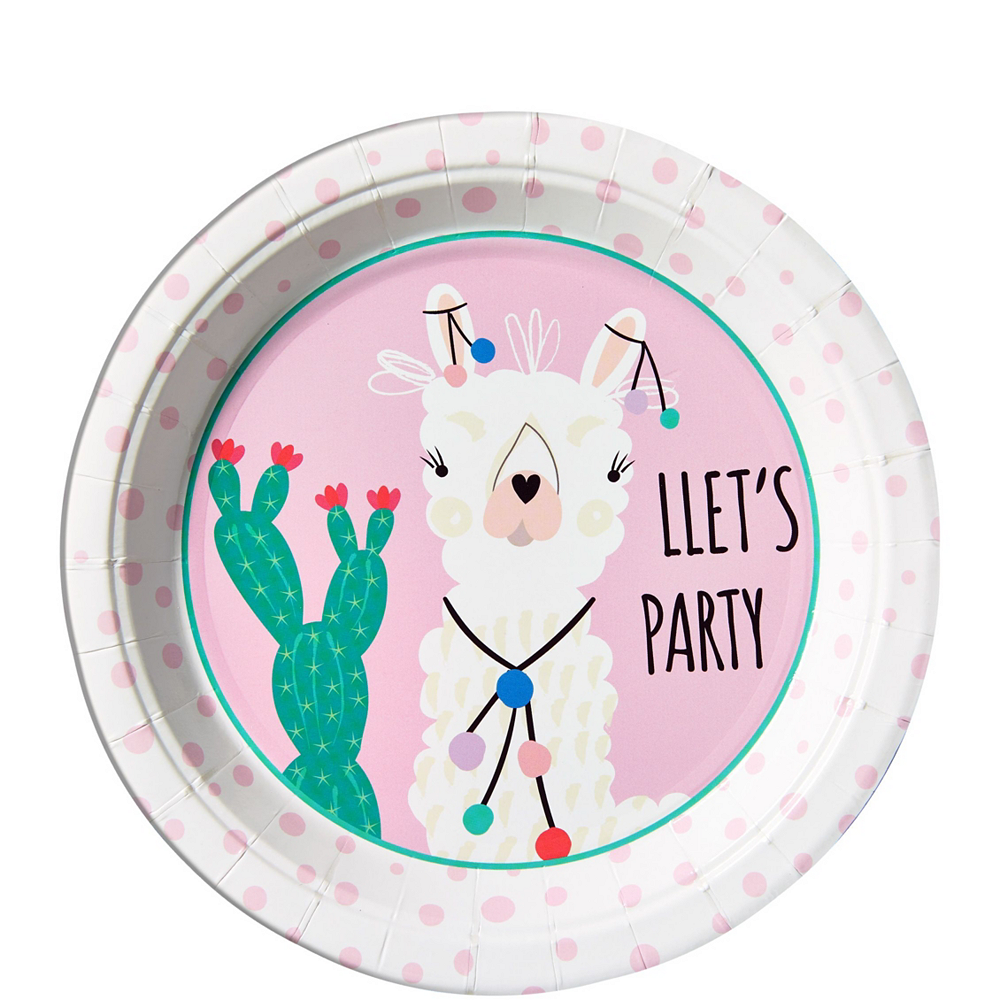 Baby Llama Tableware Kit for 16 Guests Image #2