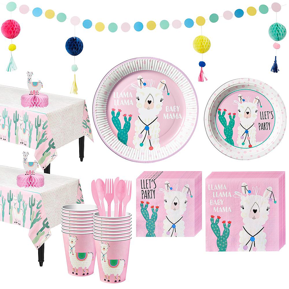 Baby Llama Tableware Kit for 32 Guests Image #1