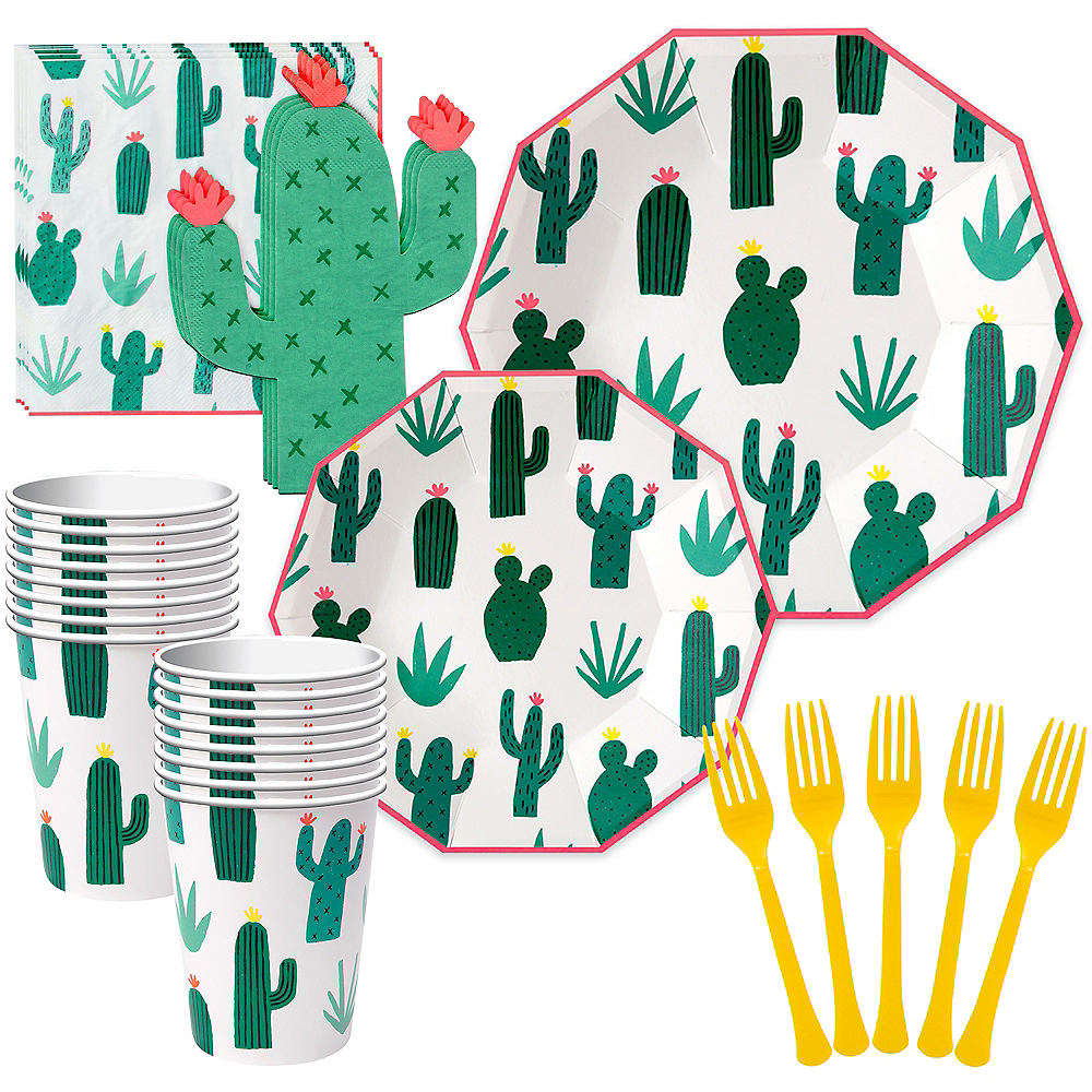 Cactus Tableware Kit for 12 Guests Image #1