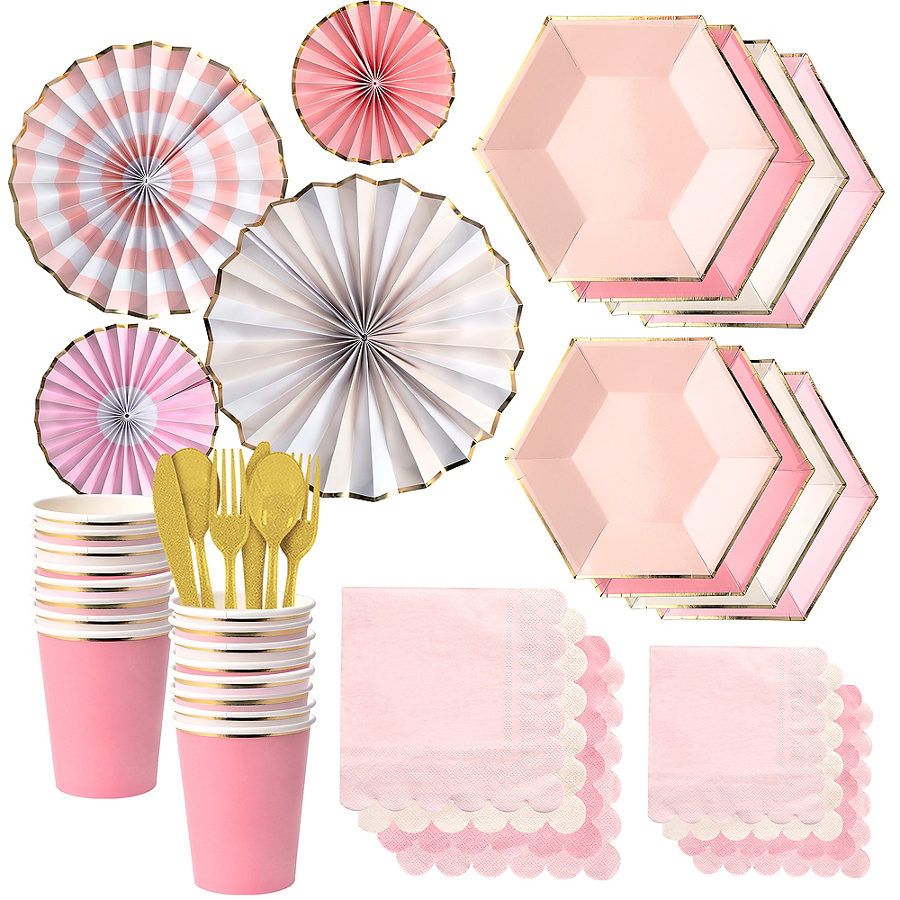 Shades of Pink Party Kit for 16 Guests Image #1