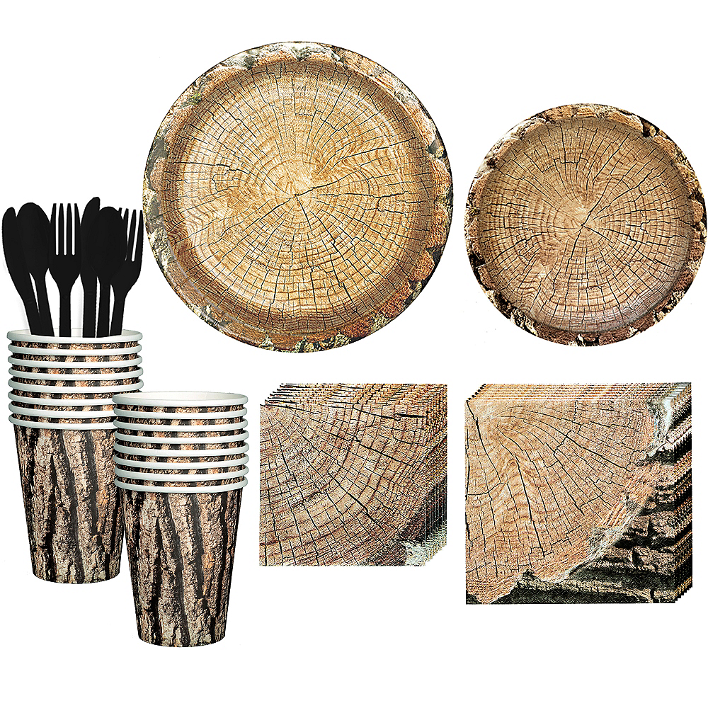 Timber Tableware Kit for 16 Guests Image #1