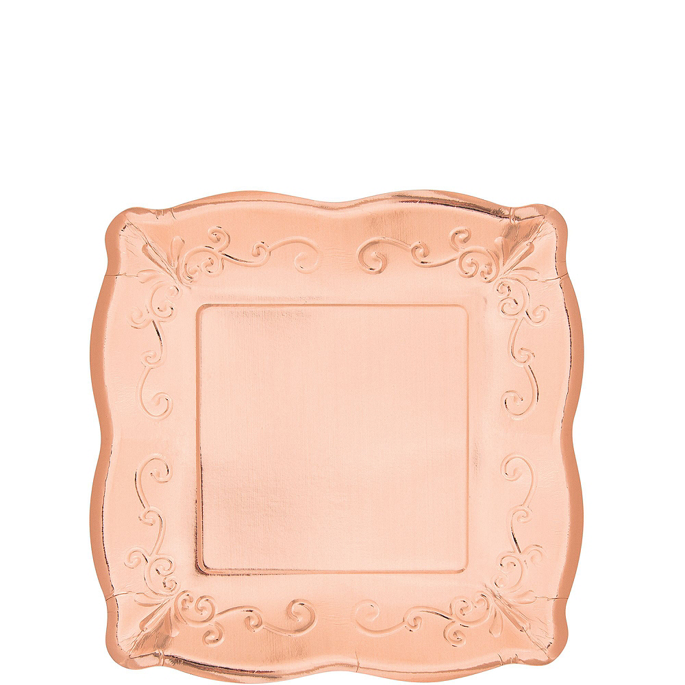 Rose Gold Scroll Tableware Kit for 16 Guests Image #2