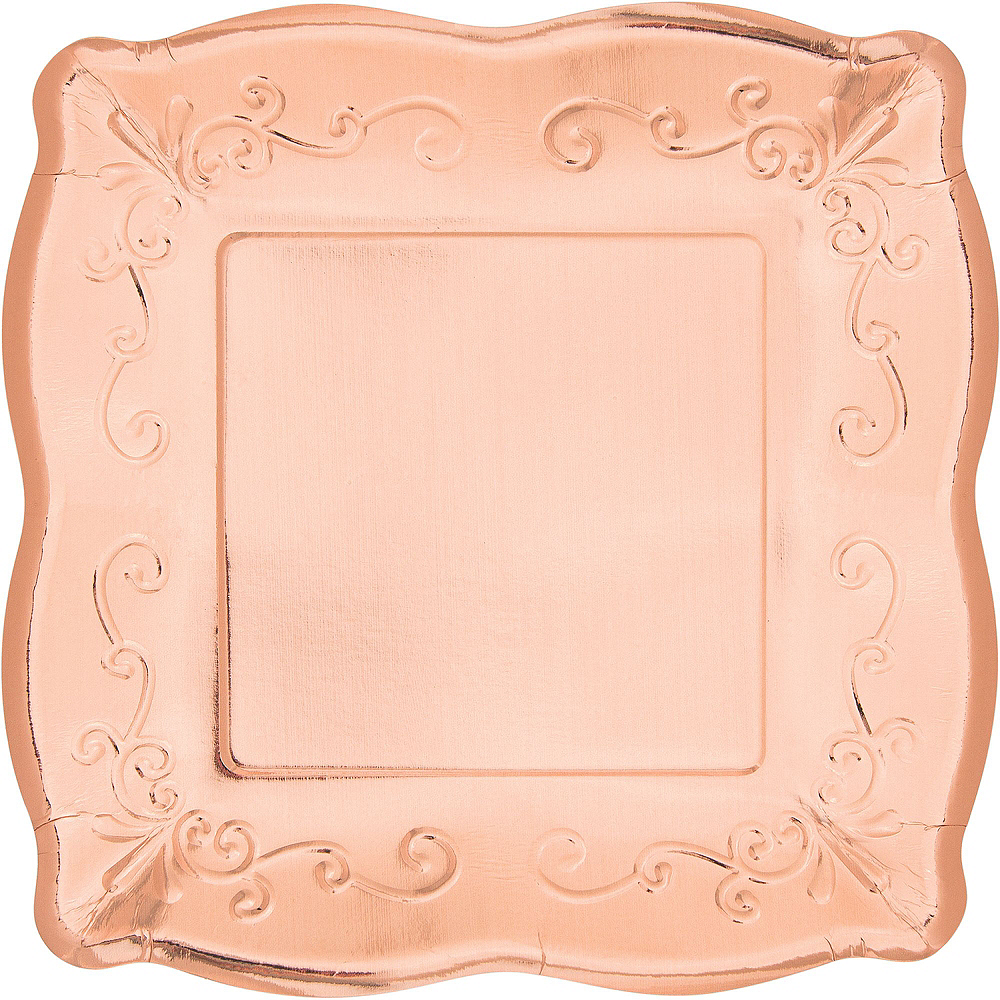 Rose Gold Scroll Tableware Kit for 16 Guests Image #3