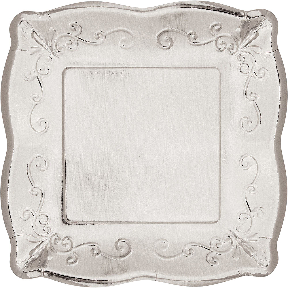 Silver Scroll Tableware Kit for 16 Guests Image #3