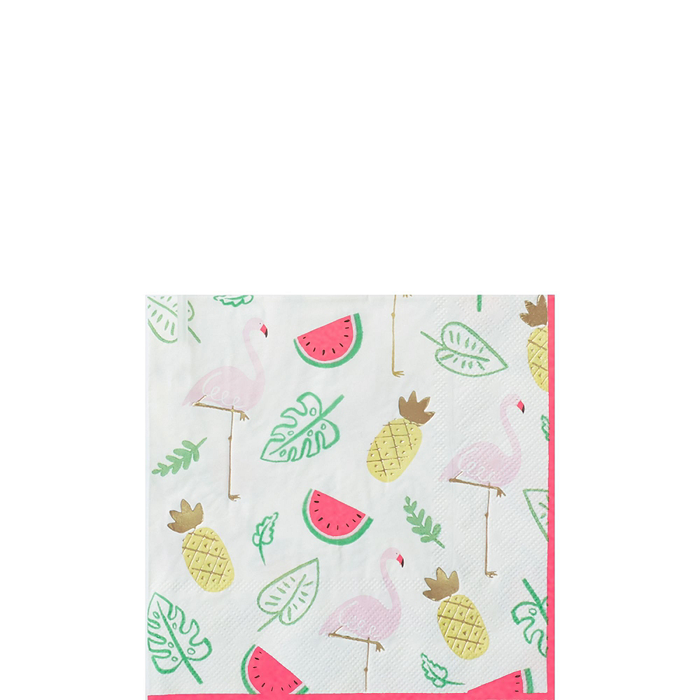 Flamingo & Pineapple Tableware Kit for 16 Guests Image #2