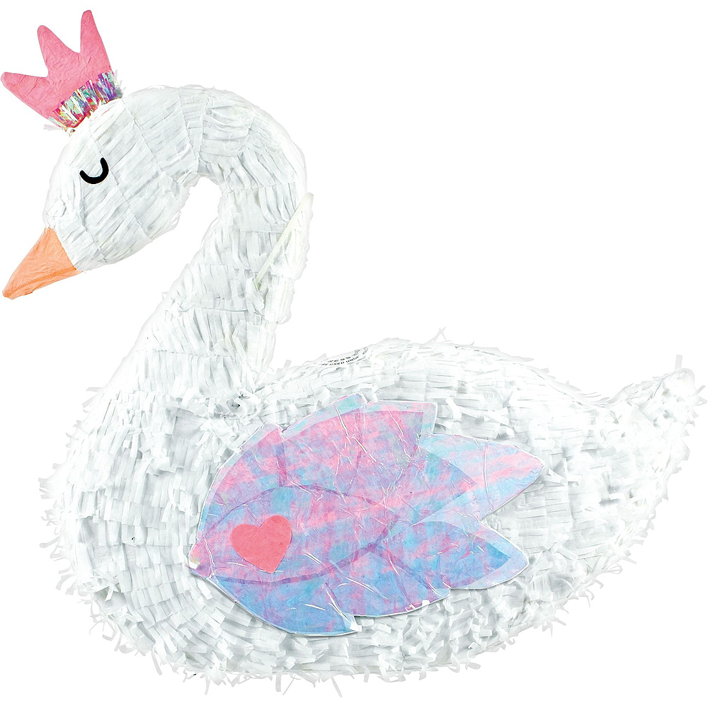 Sparkling Swan Pinata Kit with Candy & Favors Image #2