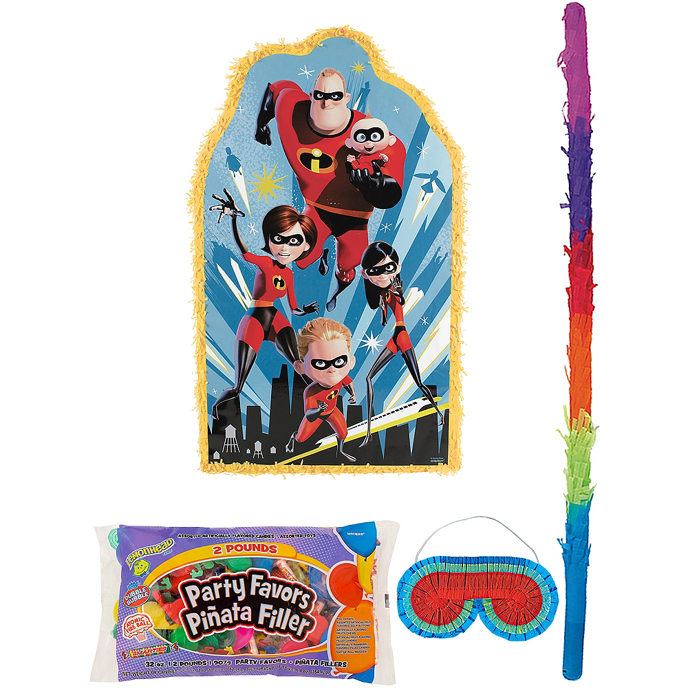 Incredibles 2 Pinata Kit with Candy & Favors Image #1
