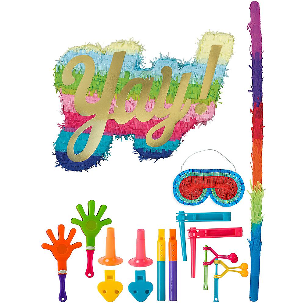 Rainbow Yay Pinata Kit with Favors Image #1