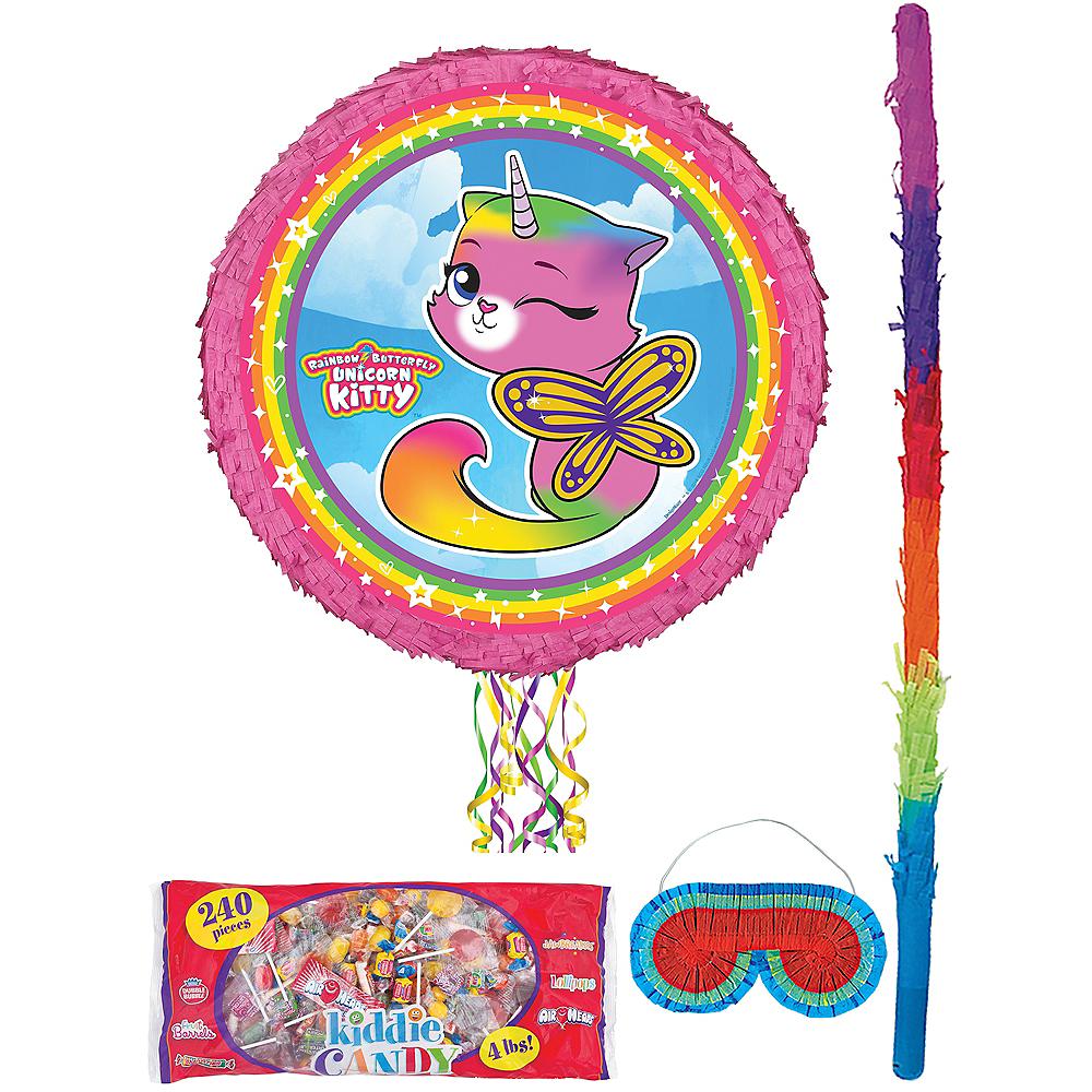 Butterfly Rainbow Kitty Unicorn Pinata Kit with Candy Image #1