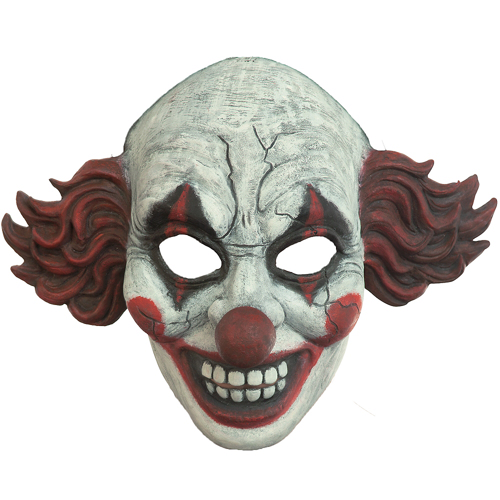 Vintage Red Clown Mask Image #1