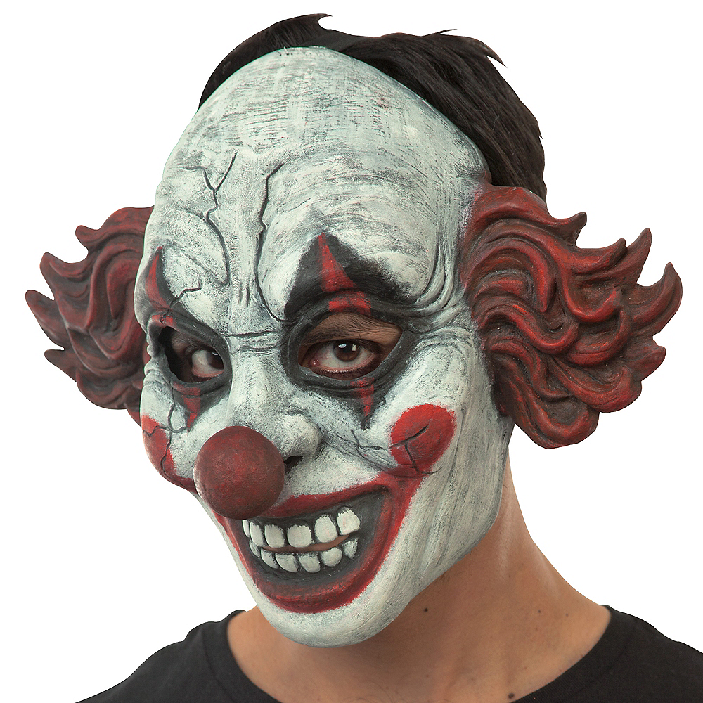 Vintage Red Clown Mask Image #2