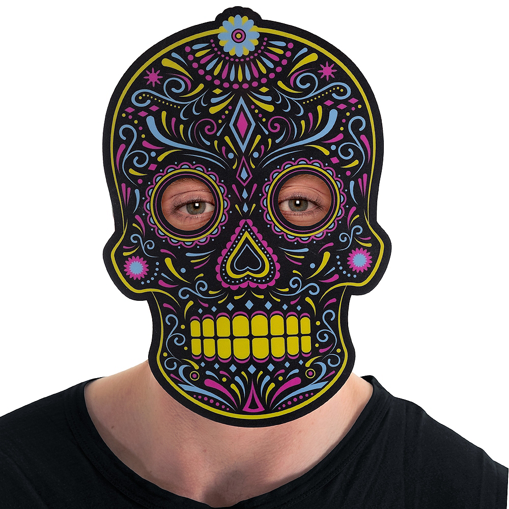 Light-Up Adult Day of The Dead Mask Image #3