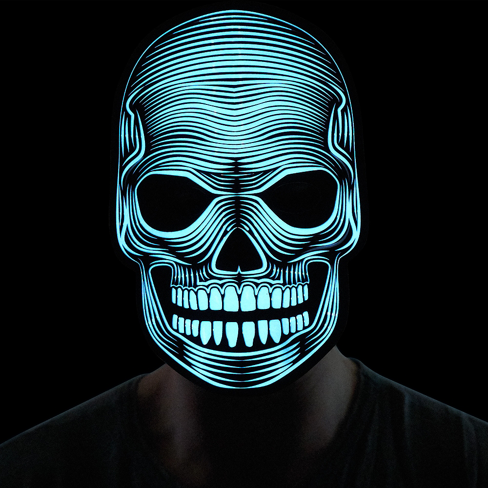 Light-Up Adult Skeleton Mask Image #2