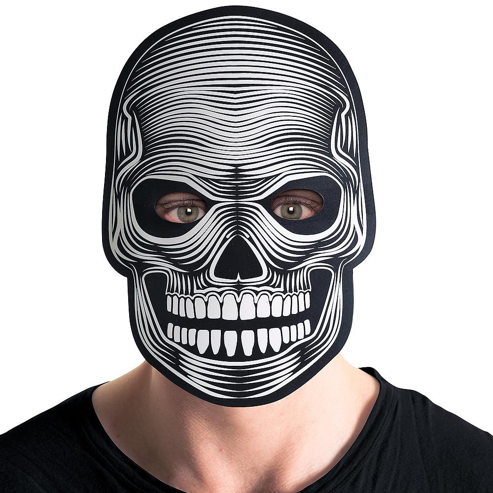 Light-Up Adult Skeleton Mask Image #3