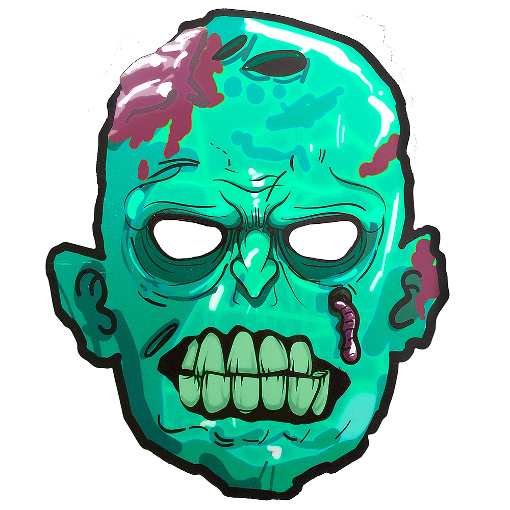 Light-Up Adult Zombie Mask Image #1