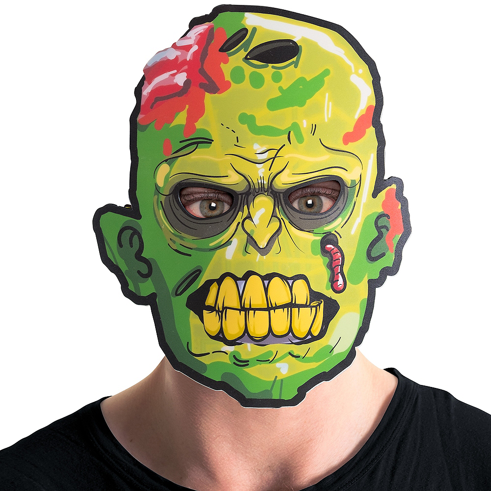 Light-Up Adult Zombie Mask Image #3