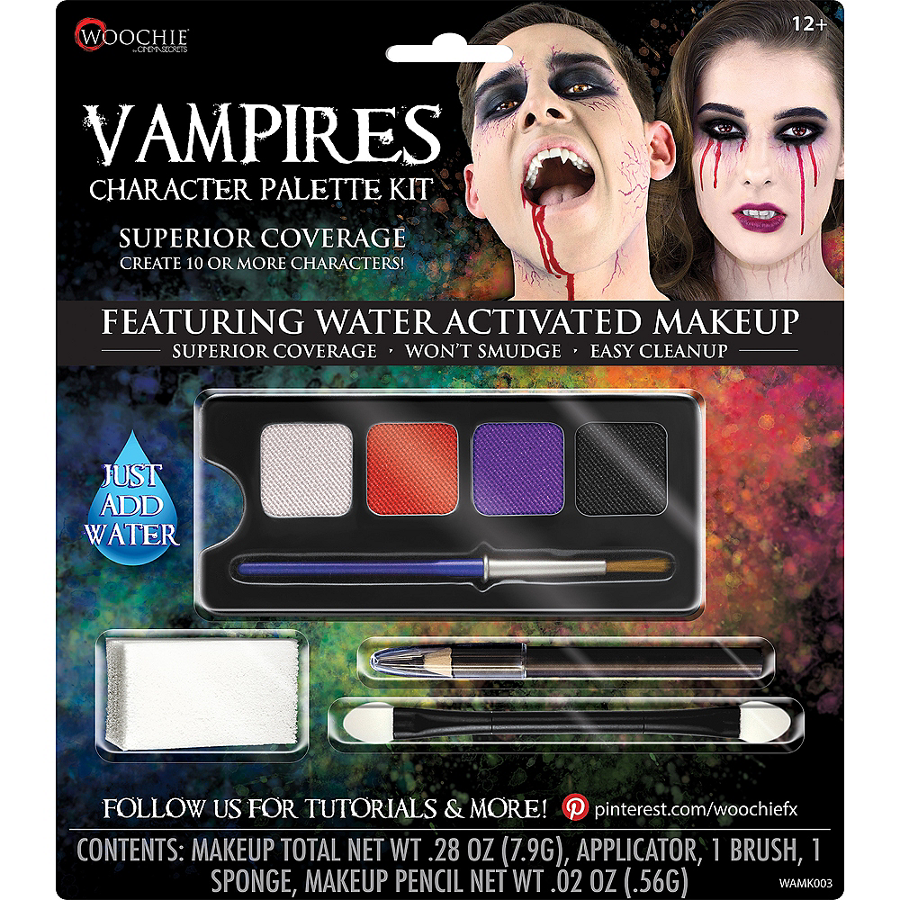 Nav Item for Complete Vampires Character Makeup Palette Kit 5pc Image #1