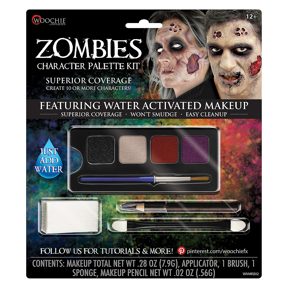 Complete Zombies Character Makeup Palette Kit 5pc Image #1