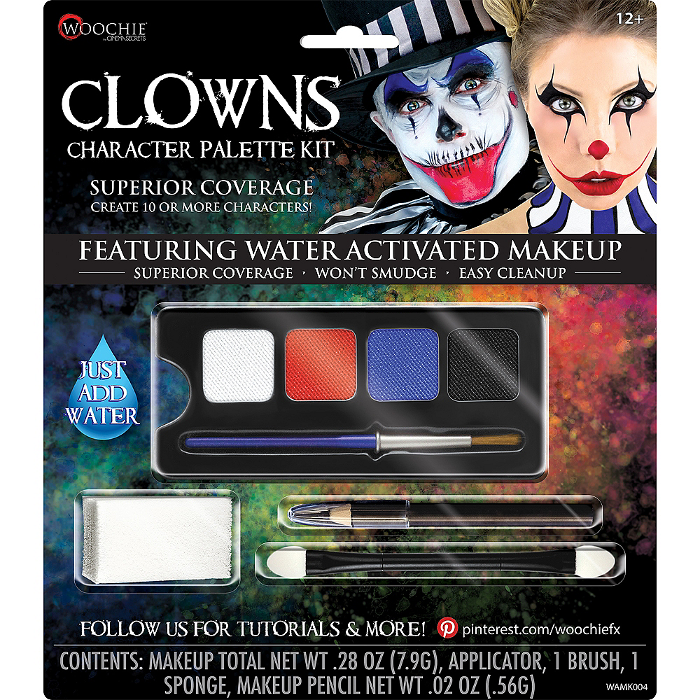 Complete Clowns Character Makeup Palette Kit 5pc Image #1