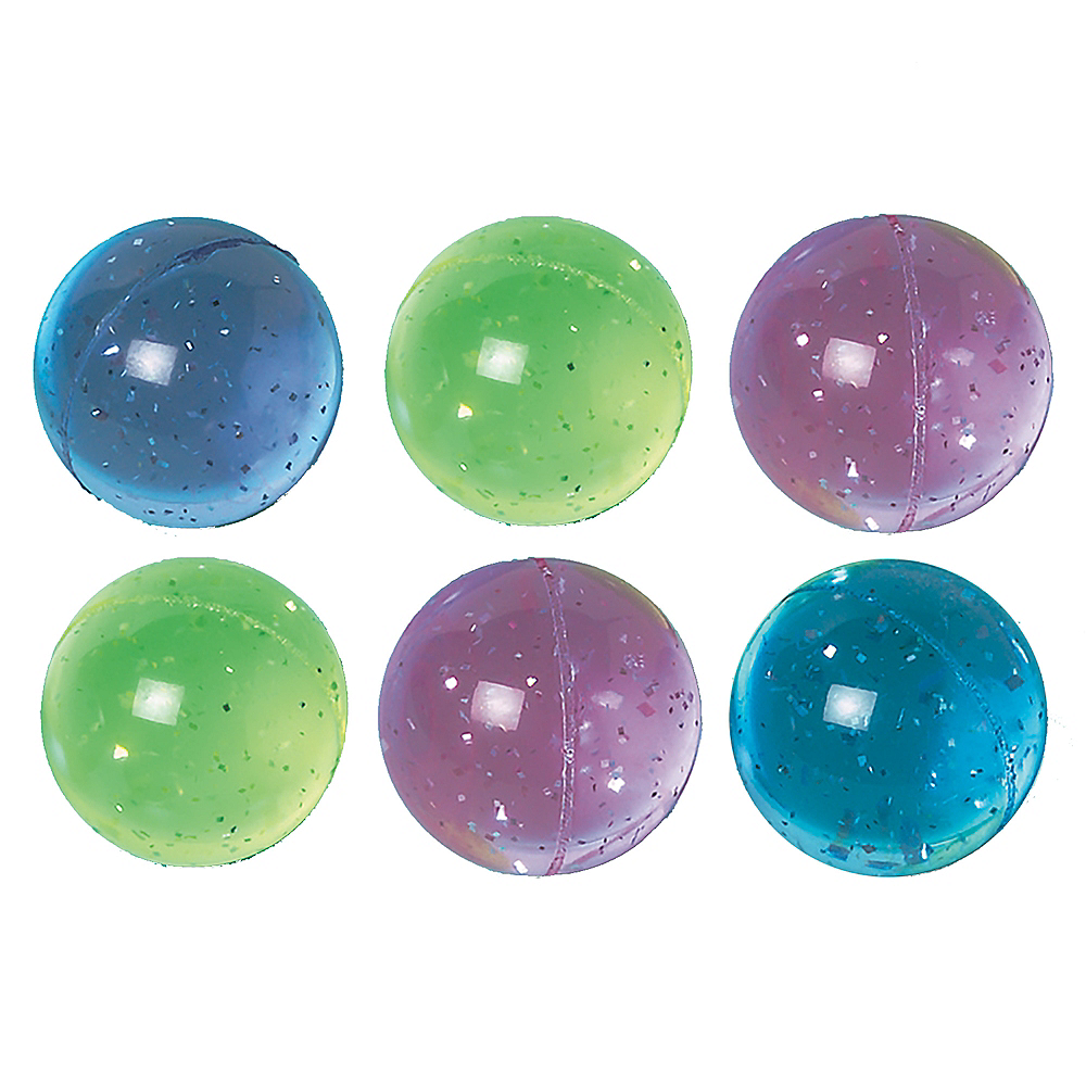 Nav Item for Glitter Bounce Balls 6ct Image #1