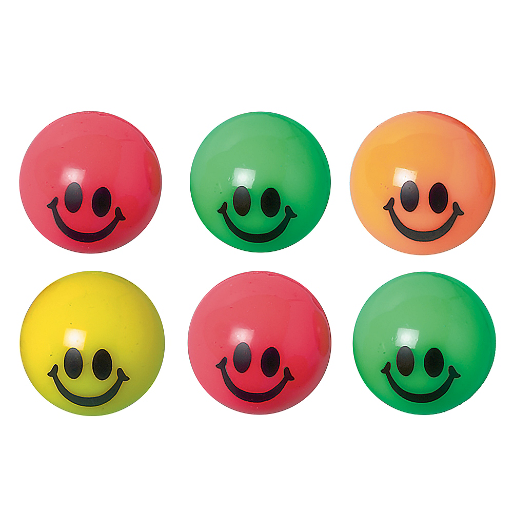 Smile Bounce Balls 6ct Image #1